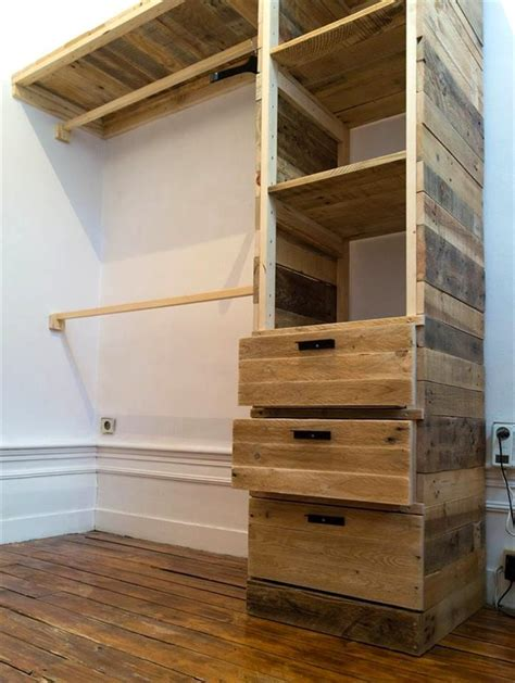 Wooden Cloth Cupboard Diy Pallet Corner Closet Or Cupboard