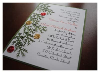 diy christmas wedding invitations