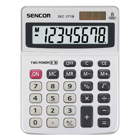 table calculator sec 377 8 sencor let s live