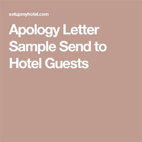 Hotel Apology Letter For Walking A Guest 25 Best Ideas About Letter Sle On Letter