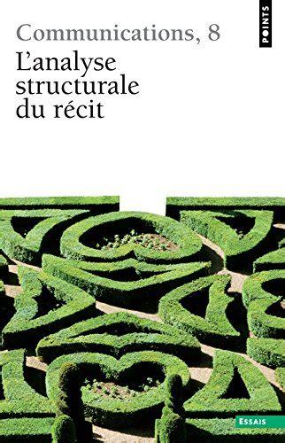 libro l analyse structurale du r 233 cit di collectif