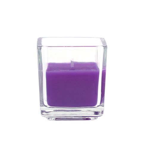 Square Candles Zest Candle 2 In Purple Square Glass Votive Candles 12