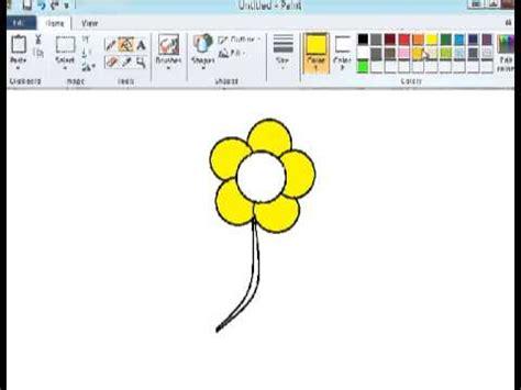 tutorial menggambar bunga tutorial paint menggambar bunga youtube