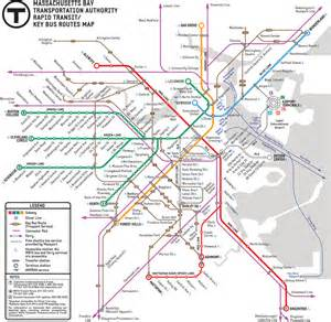 Map Of Boston T by Mbta Gt About The Mbta