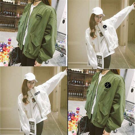 Jaket Varsity K Pop Exo kpop bts jung kook coat got7 varsity jacket exo