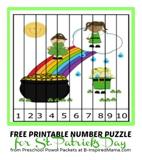 printable number puzzles for preschoolers 18 st patrick s day free printable kid s activities