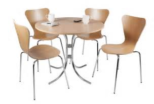 bistro style table and set of four cafe chairs