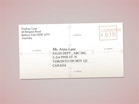 Letter Address Envelope easy ways to address envelopes to canada wikihow