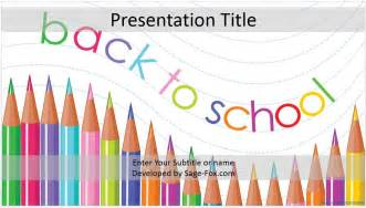 Powerpoint Templates For School by Back To School Powerpoint Template 4168 Free Back To