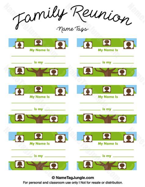 Printable Family Tree Tags | printable family reunion name tags