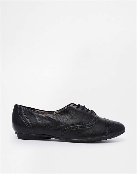 shoe biz shoe biz shoe biz leather lace up flat shoes at asos