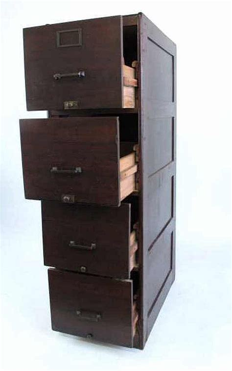 mahogany four drawer file cabinet