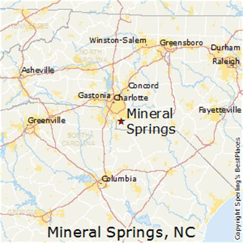 springs carolina map best places to live in mineral springs carolina
