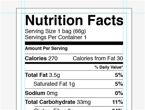 nutrition facts label template adobe illustrator