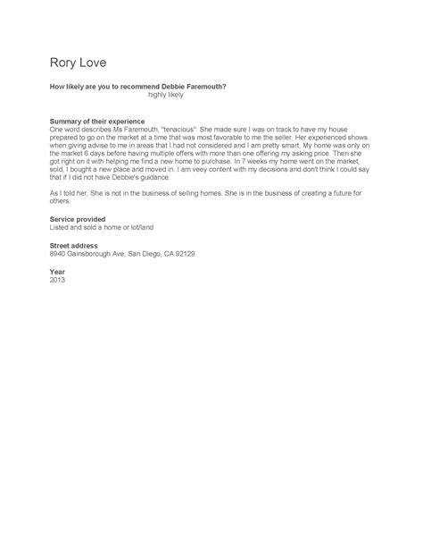 Letter Of Recommendation Relationship letters of recommendation 187 debbie faremouth debbie faremouth