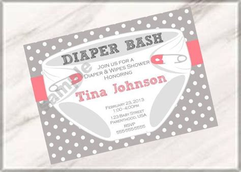 diaper party invitation wording diaper bash party baby