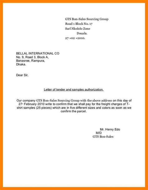 authorization letter due to working abroad authorization letter sle collect document tender and