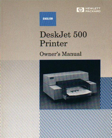 Hewlett Packard Deskjet 500 Printer Instruction Manual