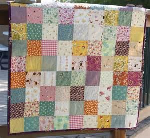 a quilt is flower garden
