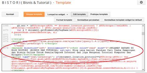 cara membuat teks berjalan di blog wordpress cara membuat teks berjalan di atas header blog b i s t o r i