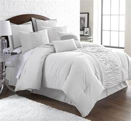 8 embellished white comforter set