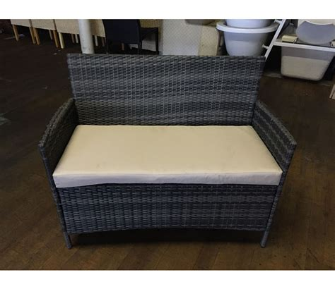 rattan charcoal 2 seater conservatory sofa