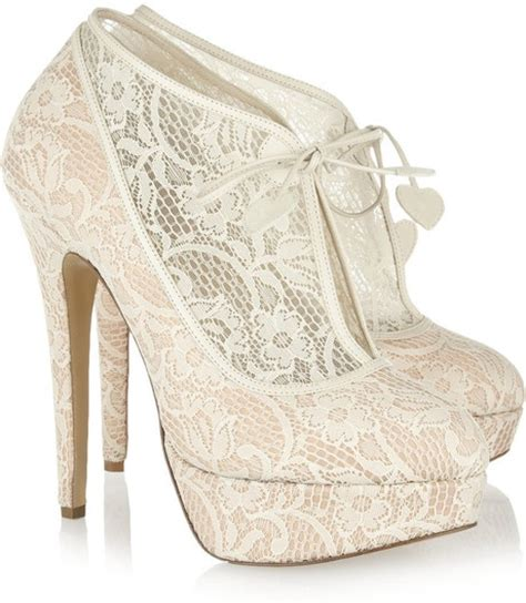 olympia minerva lace wedding bridal ankle boots