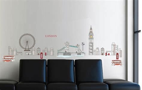 London Wall Art Stickers art applique streets of london wall decals