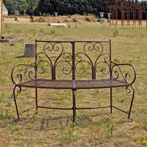 banc pour jardin banc de jardin courbe