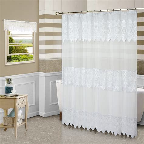 standing shower curtain united curtain company quot valerie quot free standing shower