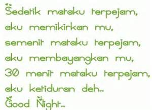 ucapan selamat malam kata kata cinta