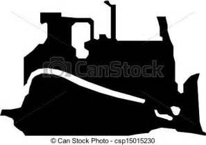 bulldozer silhouette vectors of bulldozer vector black silhouette csp15015230