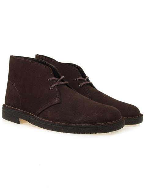 clarks originals desert boots brown suede casual shoes
