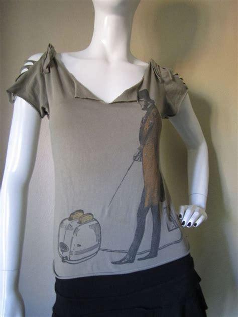 upcycled organic cotton t shirt cut shredded braided t - Shirt Upcycle