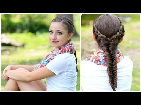 cute girls hairstyles for your crush the laced fishtail braid cute girls hairstyles youtube