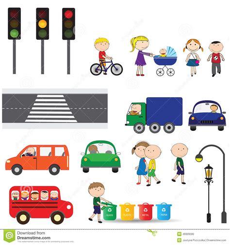 imagenes figurativas elementos elementos de la ciudad ilustraci 243 n del vector imagen de