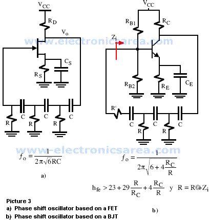 transistor fet practical phase shift oscillator electronics area