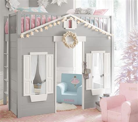 playhouse loft bed pottery barn kids