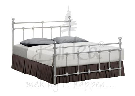 4ft bed frames birlea atlas bed frame 4ft small double silver metal bed