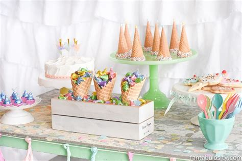 themed birthdays ideas ice cream party decorations treats theme ideas