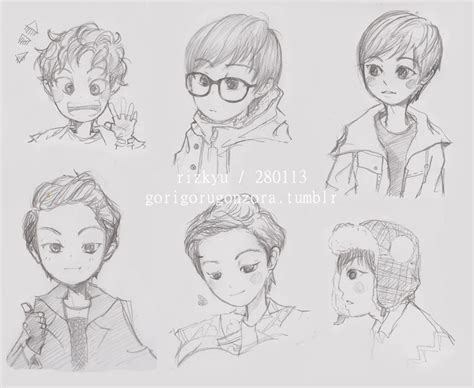 doodle rizky chanyeol version www imgkid the image kid