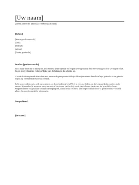 Functioneel Cv Sjabloon begeleidende brief bij cv templates office