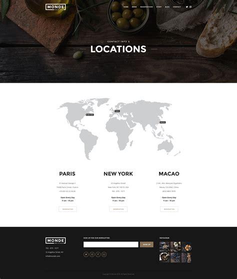 themeforest locations monde restaurant psd template by elitelayers themeforest