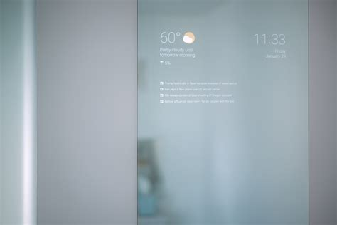 engineer creates the smart bathroom mirror