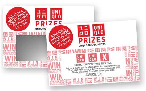 Uniqlo Gift Card Uk - custom scratch cards uk manufacturer northstar design