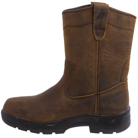 comfortable work boots for men lacrosse quad comfort 11 wellington work boots for men