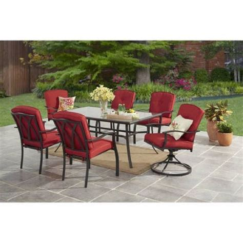 Weatherproof Patio Furniture Sets Outdoor 7 Patio Dining Set Outdoor Furniture Ebay