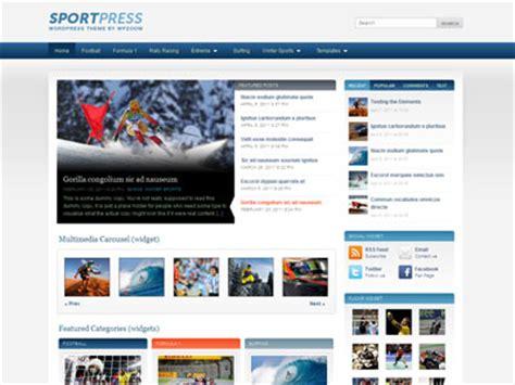 themes wordpress sport sportpress wordpress magazine theme for sport news with