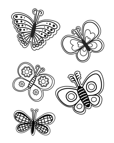 coloring pages of small butterflies spring coloring pages 2018 dr odd