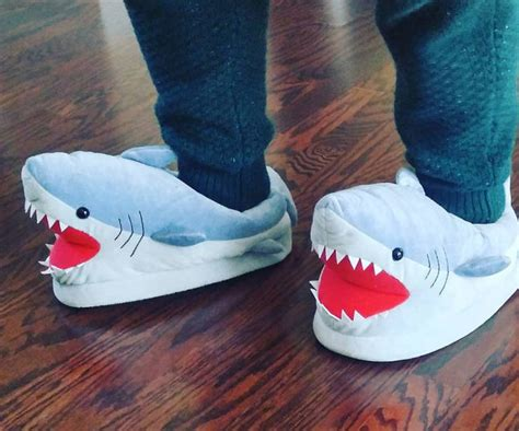 shark slippers for adults image gallery shark slippers